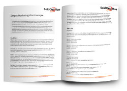 Simple Marketing Plan Example Cover